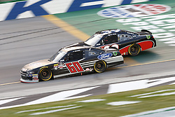 July 13, 2018 - Sparta, Kentucky, United States of America - Ty Majeski (60) and Ryan Sieg (39) battle for position during the Alsco 300 at Kentucky Speedway in Sparta, Kentucky. (Credit Image: © Chris Owens Asp Inc/ASP via ZUMA Wire)