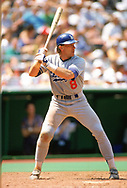 PHILADELPHIA - 1989:  Gary Carter of the Los Angeles Dodgers bats during an MLB game versus the Philadelphia Phillies at Veterans Stadium in Philadelphia, Pennsylvania during the 1989 season. (Photo by Ron Vesely).  Subject:   Gary Carter