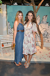 Left to right, TATIANA HAMBRO and ROSANNA FALCONER at the Tiffany & Co. Exhibition 'Fifth And 57th' Opening Night held in The Old Selfridges Hotel, Orchard Street, London on 1st July 2015.