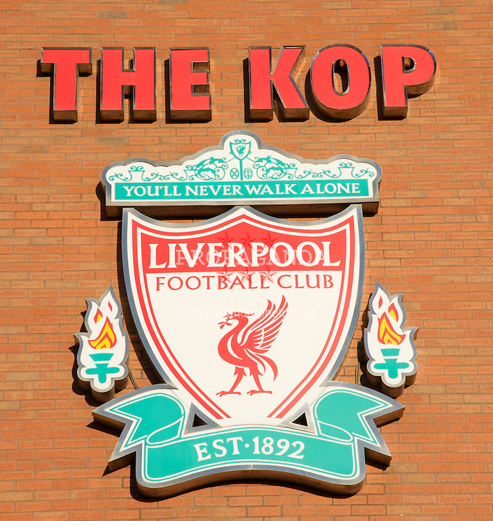 LIVERPOOL, ENGLAND - Friday, December 26, 2008: The Spion Kop at Liverpool's Anfield stadium. (Photo by David Rawcliffe/Propaganda)