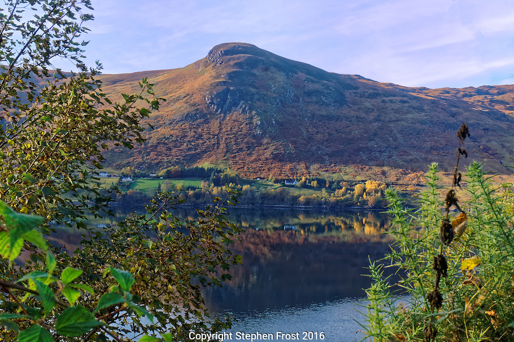 Loch Earn in autumn. This is a freshwater loch in the central highlands of Scotland, near Lochearnhead  in the districts of Perth and Kinross and Stirling.