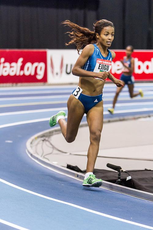 New Balance Indoor Grand Prix Track & FIeld:  women's Two Mile Sentayehu Ejigu, Ethiopia