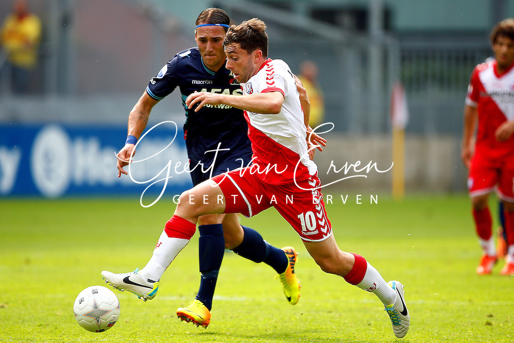Onderwerp/Subject: FC Utrecht v AZ Alkmaar - Eredivisie<br /> Reklame:  <br /> Club/Team/Country: <br /> Seizoen/Season: 2013/2014<br /> FOTO/PHOTO: Tommy OAR ( Thomas Michael OAR ) (R) of FC Utrecht in duel with Nemanja GUDELJ (L) of AZ Alkmaar. (Photo by PICS UNITED)<br /> <br /> Trefwoorden/Keywords: <br /> #04 $94 &plusmn;1371811811150<br /> Photo- &amp; Copyrights &copy; PICS UNITED <br /> P.O. Box 7164 - 5605 BE  EINDHOVEN (THE NETHERLANDS) <br /> Phone +31 (0)40 296 28 00 <br /> Fax +31 (0) 40 248 47 43 <br /> http://www.pics-united.com <br /> e-mail : sales@pics-united.com (If you would like to raise any issues regarding any aspects of products / service of PICS UNITED) or <br /> e-mail : sales@pics-united.com   <br /> <br /> ATTENTIE: <br /> Publicatie ook bij aanbieding door derden is slechts toegestaan na verkregen toestemming van Pics United. <br /> VOLLEDIGE NAAMSVERMELDING IS VERPLICHT! (&copy; PICS UNITED/Naam Fotograaf, zie veld 4 van de bestandsinfo 'credits') <br /> ATTENTION:  <br /> &copy; Pics United. Reproduction/publication of this photo by any parties is only permitted after authorisation is sought and obtained from  PICS UNITED- THE NETHERLANDS