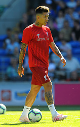 Roberto Firmino of Liverpool warms up- Mandatory by-line: Nizaam Jones/JMP - 21/04/2019 -  FOOTBALL - Cardiff City Stadium - Cardiff, Wales -  Cardiff City v Liverpool - Premier League