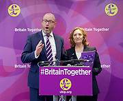 UKIP manifesto launch, Westminster, London, Great Britain <br /> 25th May 2017 <br /> <br /> Paul Nuttall <br /> <br /> Suzanne Evans <br /> <br /> Photograph by Elliott Franks <br /> Image licensed to Elliott Franks Photography Services