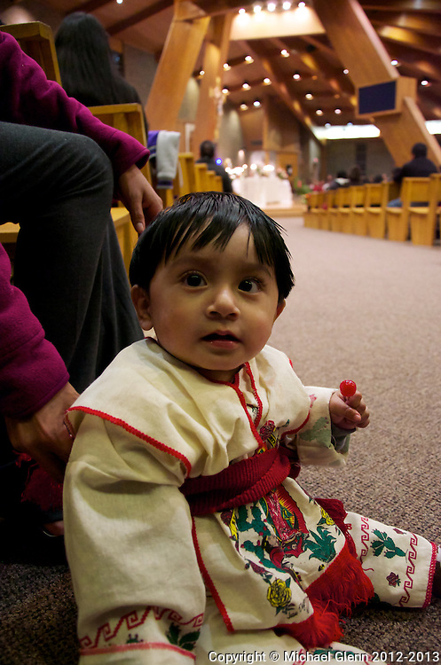 Toddler dressed in traditional festive clothing