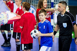 Ball boy during futsal match between Spain and France at Day 2 of UEFA Futsal EURO 2018, on January 31, 2018 in Arena Stozice, Ljubljana, Slovenia. Photo by Ziga Zupan / Sportida
