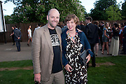 GAVIN TURK; DEBORAH CURTIS, The Summer Party. Serpentine Gallery. 8 July 2010. -DO NOT ARCHIVE-© Copyright Photograph by Dafydd Jones. 248 Clapham Rd. London SW9 0PZ. Tel 0207 820 0771. www.dafjones.com.