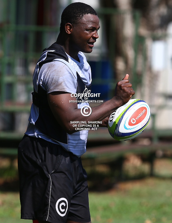 DURBAN, SOUTH AFRICA, 4 April, 2016 - Chiliboy Ralepelle during The Cell C Sharks training session  at Growthpoint Kings Park in Durban, South Africa. (Photo by Steve Haag)<br /> images for social media must have consent from Steve Haag