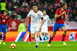 November 15, 2018 - Gdansk, Poland - Robert Lewandowski of Poland  vies Tomas Soucek of Czech Republic during the international friendly soccer match between Poland and Czech Republic at Energa Stadium in Gdansk, Poland on 15 November 2018. (Credit Image: © Foto Olimpik/NurPhoto via ZUMA Press)