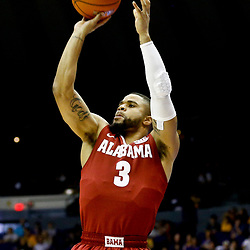 Jan 14, 2017; Baton Rouge, LA, USA; Alabama Crimson Tide guard Corban Collins (3) shoots against the LSU Tigers during the first half of a game at the Pete Maravich Assembly Center. Mandatory Credit: Derick E. Hingle-USA TODAY Sports