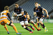 Viliame Mata on the ball during the Guinness Pro 14 2018_19 match between Edinburgh Rugby and Toyota Cheetahs at BT Murrayfield Stadium, Edinburgh, Scotland on 5 October 2018.