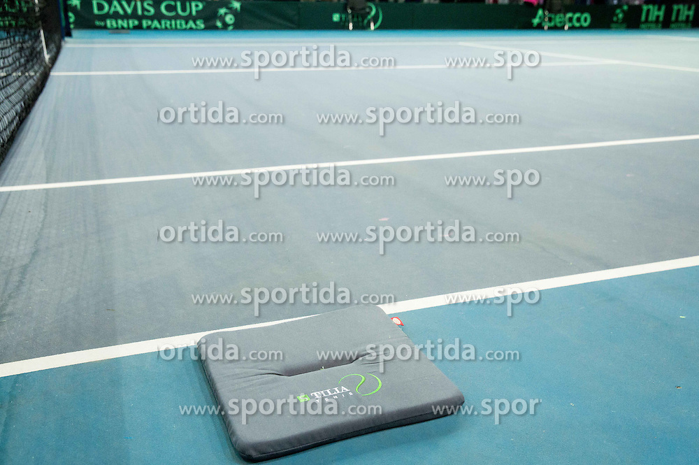 Sponsors during Davis Cup Slovenia vs Lithuania competition, on October 30, 2015 in Kranj, Slovenia. Photo by Vid Ponikvar / Sportida