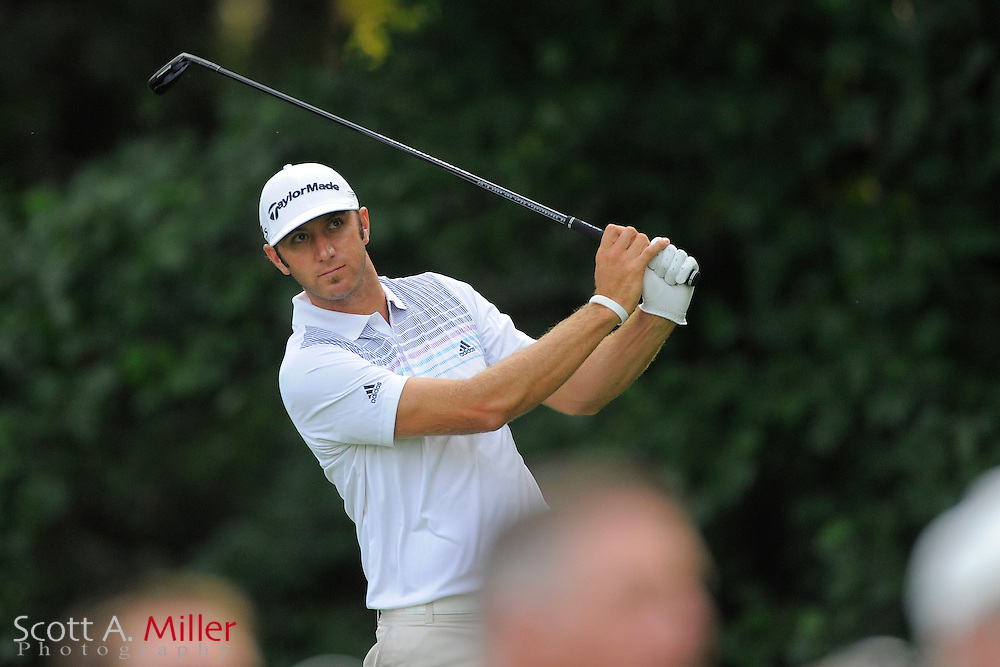 Dustin Johnson during the first round of the AT&T National at Congressional Country Club on June 28, 2012 in Bethesda, Maryland. ..©2012 Scott A. Miller
