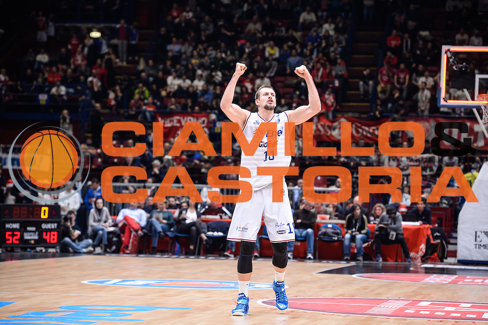 DESCRIZIONE : Milano Lega A 2015-16 <br /> GIOCATORE : Nemanja Milosevic<br /> CATEGORIA : Ritratto Esultanza<br /> SQUADRA : Enel Brindisi<br /> EVENTO : Campionato Lega A 2015-2016<br /> GARA : Olimpia EA7 Emporio Armani Milano Enel Brindisi<br /> DATA : 20/12/2015<br /> SPORT : Pallacanestro<br /> AUTORE : Agenzia Ciamillo-Castoria/M.Ozbot<br /> Galleria : Lega Basket A 2015-2016 <br /> Fotonotizia: Milano Lega A 2015-16