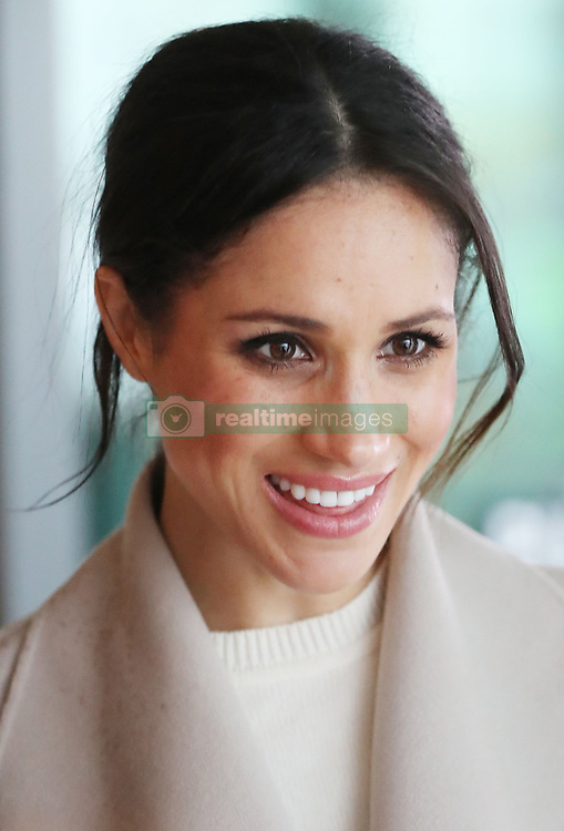 Meghan Markle with Prince Harry during a visit to Catalyst Inc science park in Belfast where they met some of Northern Ireland's brightest young entrepreneurs.