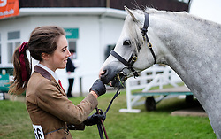 © Licensed to London News Pictures.16/07/15<br /> Harrogate, UK. <br /> <br /> A girl waits with her pony before entering the main arena on the final day of the Great Yorkshire Show.  <br /> <br /> England's premier agricultural show has seen three days of showcasing the best in British farming and celebrating the countryside.<br /> <br /> The event which attracts over 130,000 visitors each year displays the cream of the country's livestock and offers numerous displays and events giving the chance for visitors to see many different countryside activities.<br /> <br /> Photo credit : Ian Forsyth/LNP