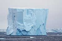 Tabular iceberg in iceberg alley in Antarctic Sound in Antarctica.