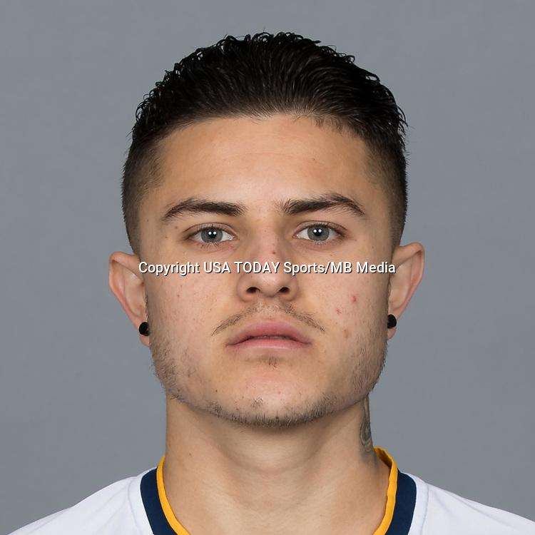 Feb 25, 2017; USA; LA Galaxy player Raul Mendiola poses for a photo. Mandatory Credit: USA TODAY Sports