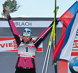 05.01.2011, Nordic Arena, Toblach, ITA, FIS Cross Country, Tour de Ski, Qualifikation Sprint Women and Men, im Bild Podium Petra Majdic (SLO, #4) winner, Platz 1. EXPA Pictures © 2011, PhotoCredit: EXPA/ J. Groder