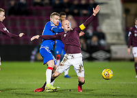 Football - 2019 / 2020 William Hill Scottish Cup - Quarter-Final: Heart of Midlothian vs. Rangers<br /> <br /> Steven Naismith of Hearts vies with Steven Davis of Rangers, at Tynecastle Park, Edinburgh.<br /> <br /> COLORSPORT/BRUCE WHITE