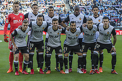 November 19, 2017 - Barcelona, Catalonia, Spain - Valencia CF initial team during the match between RCD Espanyol vs Valencia CF, for the round 12 of the Liga Santander, played at RCD Espanyol Stadium on 19th November 2017 in Barcelona, Spain. (Credit Image: © Urbanandsport/NurPhoto via ZUMA Press)