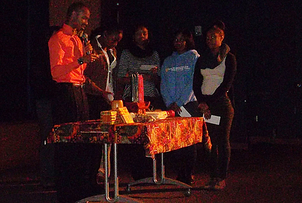 The Ohio University Office of Multicultural Programs/Multicultural Center and the Black Student Cultural Programming Board hosted the annual Pre-Kwanzaa celebration on Nov. 28 Baker University Center Theatre