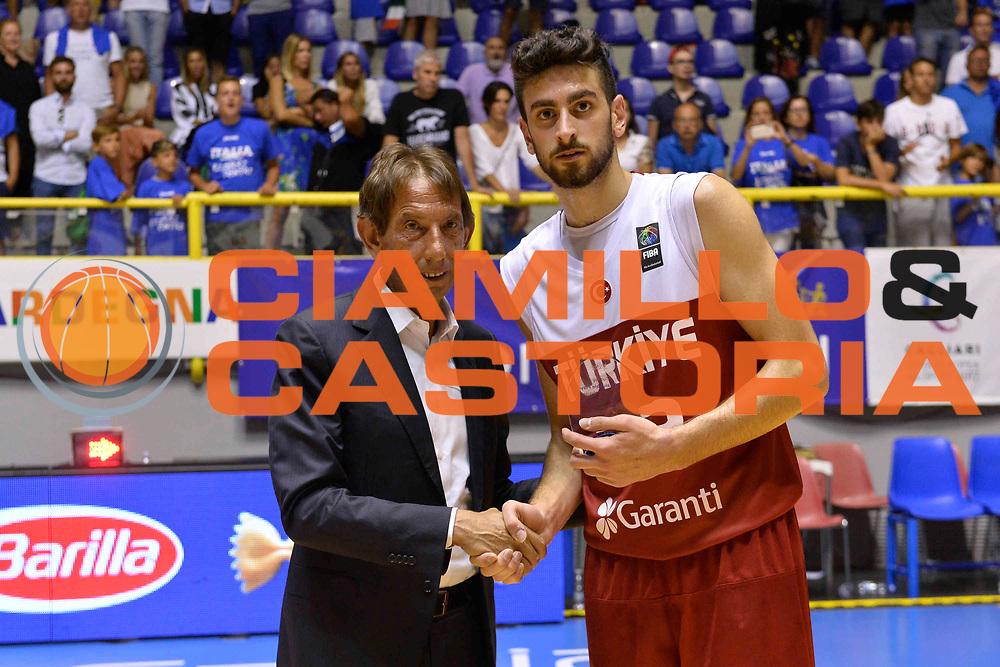 CAGLIARI 13 AGOSTO 2017<br /> Torneo di Cagliari Nazionale Italiana<br /> Italia - Turchia    Italy - Turkey<br /> NELLA FOTO Bruno Perra Korcmaz<br /> FOTO CIAMILLO