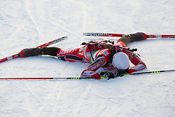 Tired Zina Kocher of Canada during the Women 7,5 km Sprint of the e.on IBU Biathlon World Cup on Saturday, December 18, 2010 in Pokljuka, Slovenia. The fourth e.on IBU World Cup stage is taking place in Rudno polje - Pokljuka, Slovenia until Sunday December 19, 2010. (Photo By Vid Ponikvar / Sportida.com)