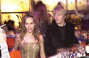 Tara Palmer-Tompkinson & Nick Rhodes. Mr. and Mrs. Andy Wong Chinese Year of the Dragon. Millenium Dome. 29/1/2000.<br />© Copyright Photograph by Dafydd Jones<br />66 Stockwell Park Rd. London SW9 0DA<br />Tel 0171 733 0108. wwwdafjones.com