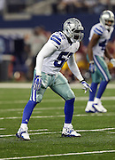 Dallas Cowboys outside linebacker Justin Durant (52) gets set for the snap during the NFL week 6 football game against the Washington Redskins on Sunday, Oct. 13, 2013 in Arlington, Texas. The Cowboys won the game 31-16. ©Paul Anthony Spinelli