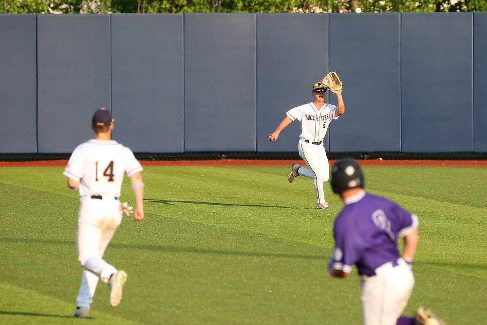 May 11, 2018 - Johnson City, Tennessee - Thomas Stadium: ETSU centerfielder Hunter Parker (5)<br /> <br /> Image Credit: Dakota Hamilton/ETSU
