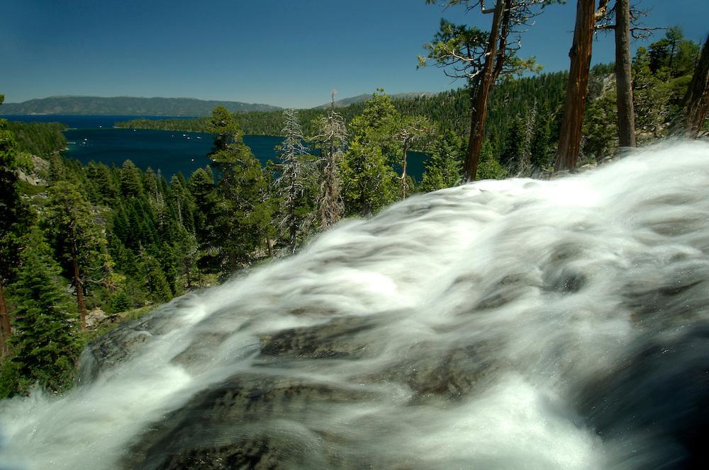 Lower Eagle Falls, Emerald Bay State Park, Lake Tahoe, South Lake Tahoe, California, United States of America
