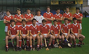 All Ireland Senior Hurling Championship Final, .04.09.1988. 09.04.1988, 4th September 1988,.4091988AISHCF,.Galway 1-15, Tipperary 0-14,.Galway v Tipperary, ..Cork back row, Tomas Twomey, Michael Sheehan, Tim Hurley, Ian Lynam, Darragh Holland, William Callanan, Tim Dineen, David Quirke, Front row, Brian Corcoran, Brian Cunningham, Kevin Roche, Paudie O'Brien captain, John Dillon, Mattie Noonan, Tim Kelleher,