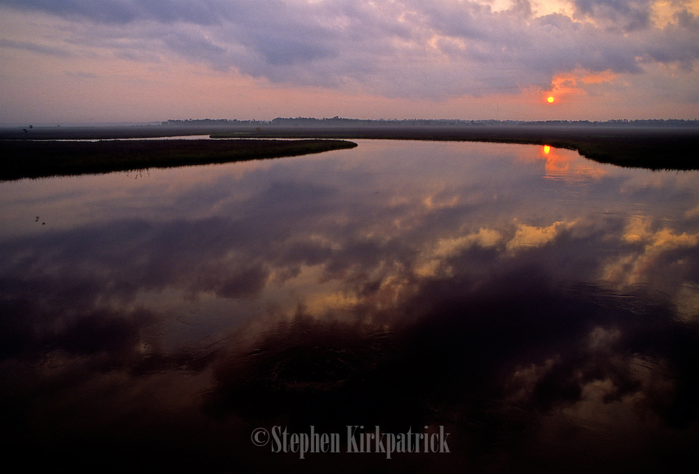 Sunrise over Pascagoula River & Reflections - Mississippi.