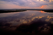 Sunrise over Pascagoula River & Reflections - Mississippi.