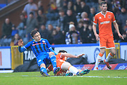 GOAL Ollie Rathbone scores for Rochdale 1-0 during the EFL Sky Bet League 1 match between Rochdale and Blackpool at Spotland, Rochdale, England on 26 December 2018.