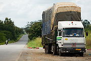 Overloaded truck parked on the side of the road near Notse, Togo on Thursday October 2, 2008.