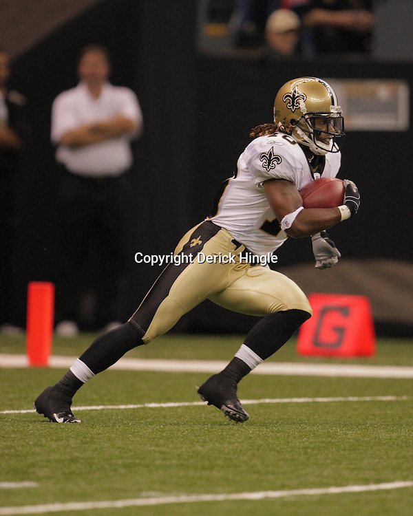 2008 August 28: Return specialist, Skyler Green (10) of the New Orleans Saints returns a punt during a preseason game against the Miami Dolphins at the Louisiana Superdome in New Orleans, LA.