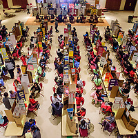 Dozens of projects line the Red Rock Park gallery for day one of the 2018 Navajo Nation Science Fair Feb 27.