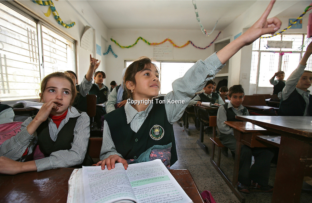Girls at a school in Amman, Jordan