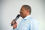 Ohio University President Roderick McDavis speaks during the Black Alumni Reunion during its welcome reception at Tailgreat Park on Thursday, September 15, 2016.
