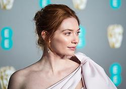 Eleanor Tomlinson attending 72nd British Academy Film Awards, Arrivals, Royal Albert Hall, London. 10th February 2019