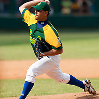 15 February 2009: Right pitcher Yunieski Maya of the Occidentales pitches during a training game of Cuba Baseball Team for the World Baseball Classic 2009. The national team is pitted against itself, divided in two teams called the Occidentales and the Orientales. The Orientales win 12-8, at the Latinoamericano stadium, in la Habana, Cuba.