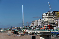 UK ENGLAND BRIGHTON 8SEP16 - View of Brighton sea  front promenade from Brighton Pier.<br /> <br /> jre/Photo by Jiri Rezac<br /> <br /> © Jiri Rezac 2016