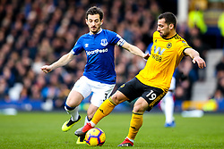 Jonny of Wolverhampton Wanderers takes on Leighton Baines of Everton - Mandatory by-line: Robbie Stephenson/JMP - 02/02/2019 - FOOTBALL - Goodison Park - Liverpool, England - Everton v Wolverhampton Wanderers - Premier League