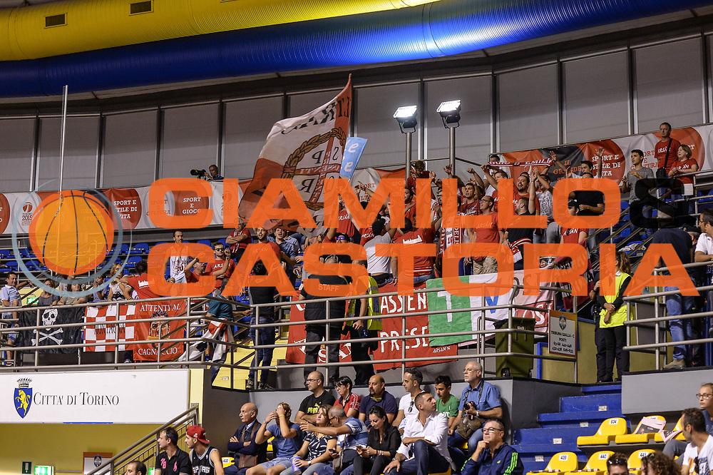 DESCRIZIONE : Supercoppa 2015 Semifinale Dinamo Banco di Sardegna Sassari - Grissin Bon Reggio Emilia<br /> GIOCATORE : Ultras Arsan<br /> CATEGORIA : Ultras Tifosi Spettatori Pubblico<br /> SQUADRA : Grissin Bon Reggio Emilia<br /> EVENTO : Supercoppa 2015<br /> GARA : Dinamo Banco di Sardegna Sassari - Grissin Bon Reggio Emilia<br /> DATA : 26/09/2015<br /> SPORT : Pallacanestro <br /> AUTORE : Agenzia Ciamillo-Castoria/L.Canu