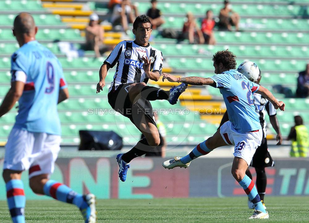 Udine, 02 Ottobre 2011.Campionato di calcio Serie A 2011/2012  6^ giornata..Udinese vs Bologna. Stadio Friuli..Nella Foto: Rinvio di Giampiero Pinzi..© foto di Simone Ferraro
