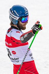 02.03.2020, Hannes Trinkl Weltcupstrecke, Hinterstoder, AUT, FIS Weltcup Ski Alpin, Riesenslalom, Herren, 2. Lauf, im Bild Marco Schwarz (AUT) // Marco Schwarz of Austria reacts after his 2nd run of men's Giant Slalom of FIS ski alpine world cup at the Hannes Trinkl Weltcupstrecke in Hinterstoder, Austria on 2020/03/02. EXPA Pictures © 2020, PhotoCredit: EXPA/ Johann Groder