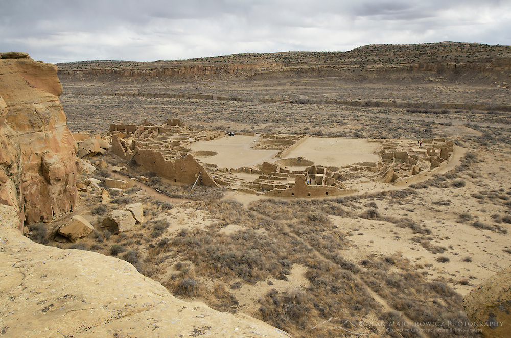 View of Pueblo Bonito Ruins, Chaco Culture National Historical Park, New Mexico